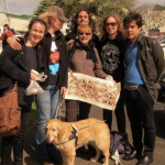 ANN VICKERY, MICHELE LEGGOTT, ALI ALIZADEH, KELLY MALONE, ADAM AITKEN, and OLIVE THE GUIDE DOG in AUCKLAND 2013